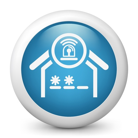 guard house: House alarm concept icon Illustration
