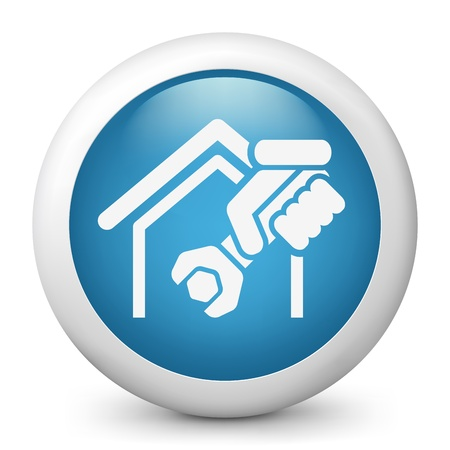 Home professional services icon Stock Vector - 19876621