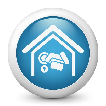 burglary: Home door handle icon Illustration