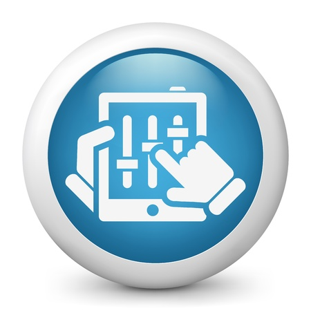 Touchscreen mixer concept icon Stock Vector - 19876670
