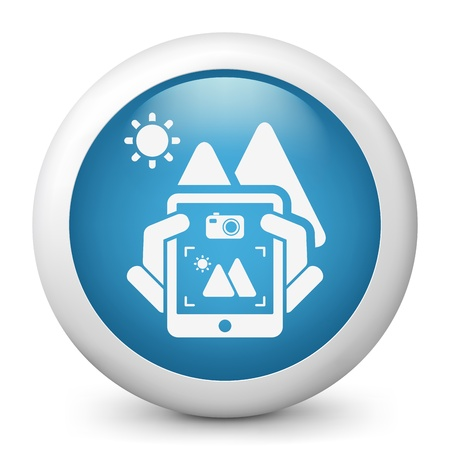 videographer: Landscape digital photo concept icon