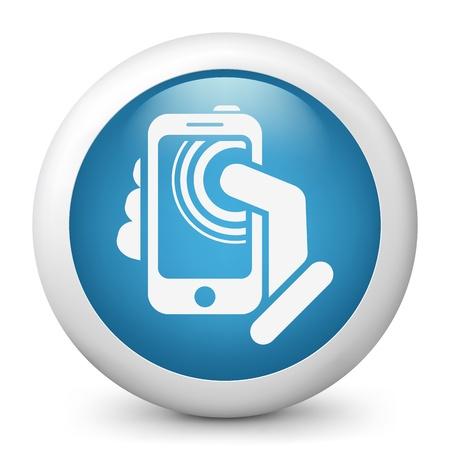 Smartphone touchscreen icon concept Stock Vector - 19876591