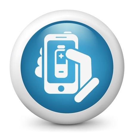Battery level smartphone icon Stock Vector - 19875500