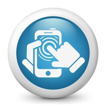 Smartphone touchscreen icon concept Stock Vector - 19875455
