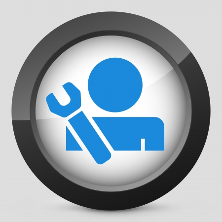 Worker concept symbol icon Stock Vector - 19875518
