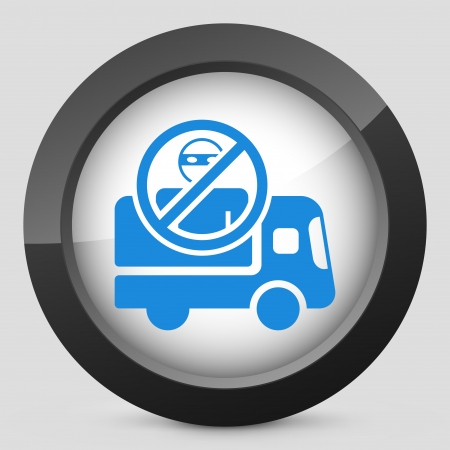 armored safes: Security transport van concept icon