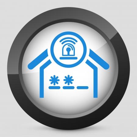 guard house: House alarm concept icon Illustration