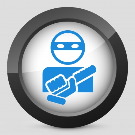 Armed bandit concept icon Stock Vector - 19875575