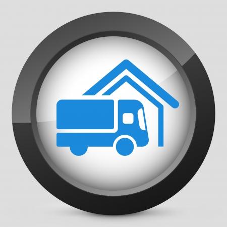 Van delivery concept icon Vector