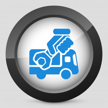 Assistance van concept icon Stock Vector - 19875571