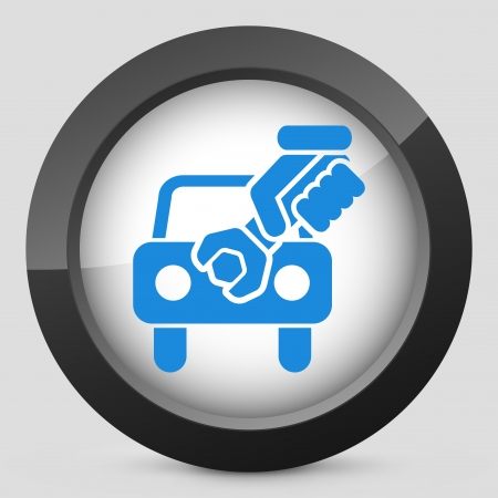 Car assistance concept icon Stock Vector - 19875599