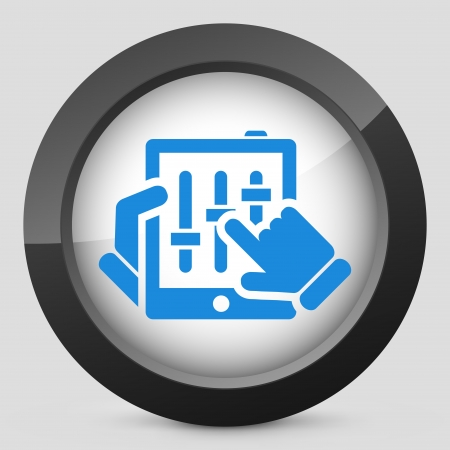 Touchscreen mixer concept icon Vector