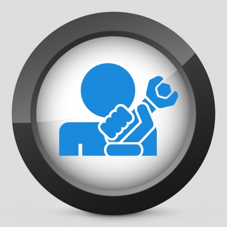 Repairman concept icon illustration Stock Vector - 19875550