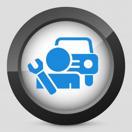Car assistance icon concept Stock Vector - 19875536