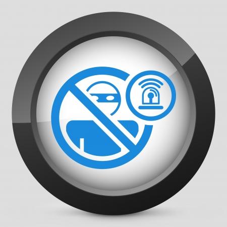 accessing: Ladr�n concepto de icono de alarma