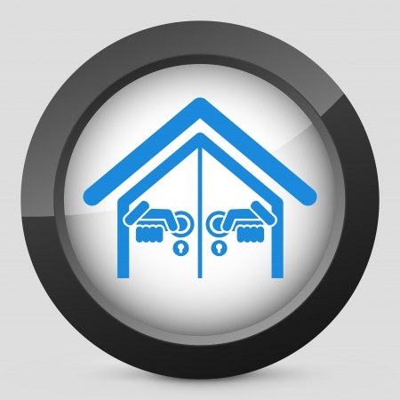 Door house opening concept icon Stock Vector - 19875616