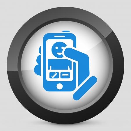 Smartphon incoming call icon Stock Vector - 19875567