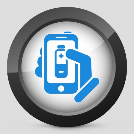 Battery level smartphone icon Vector