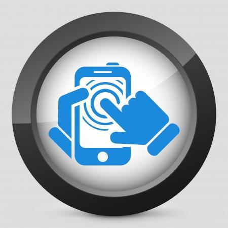 Smartphone touchscreen icon concept Stock Vector - 19875595