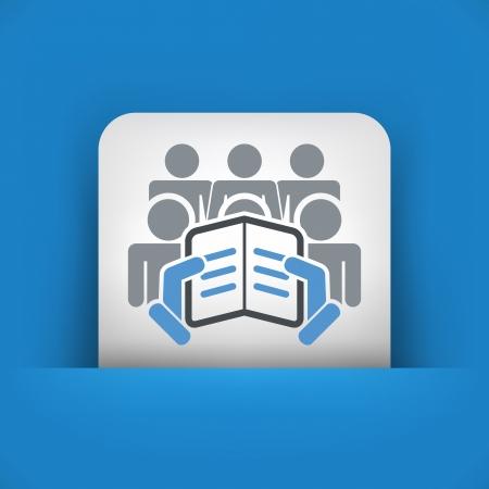 Reading text concept icon Stock Vector - 19876392