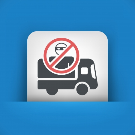 Security transport van concept icon Vector