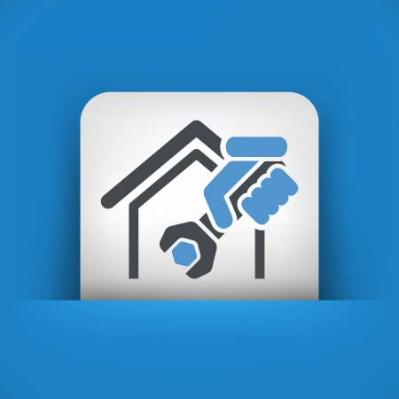 Home professional services icon Stock Vector - 19875844