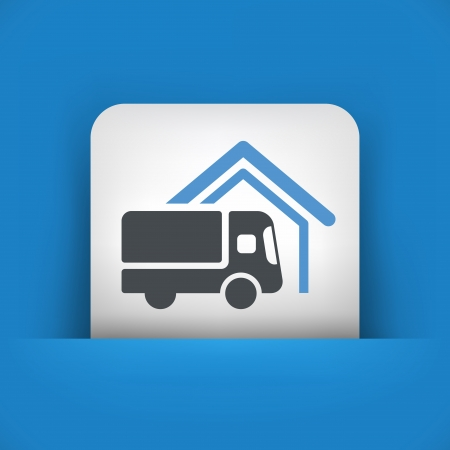 Van delivery concept icon Vector