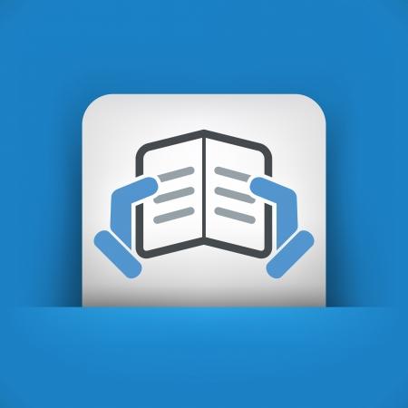 Text reading concept icon Stock Vector - 19875846