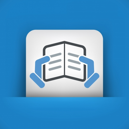 Text reading concept icon