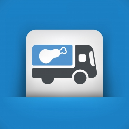 catering service: Meat van icon concept Illustration