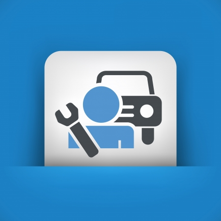 car service: Car assistance icon concept