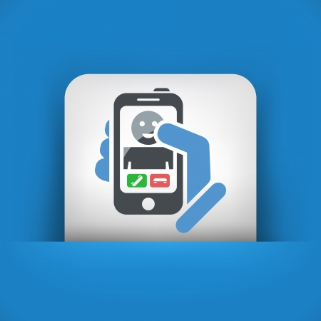 Smartphon incoming call icon Stock Vector - 19875865