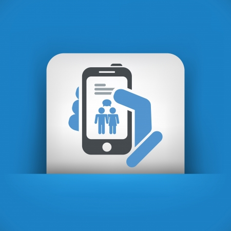 Smartphone chat icon concept Vector