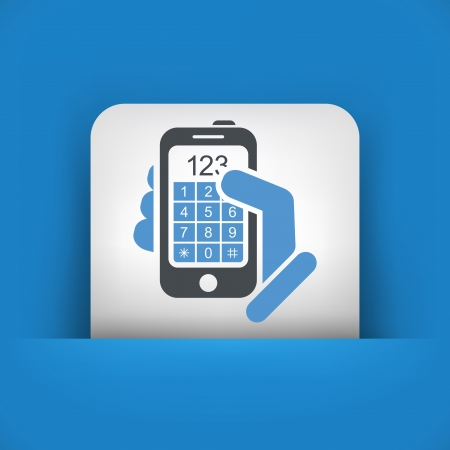 dialing: Call phone icon concept