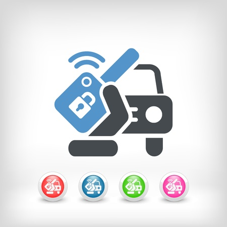 Car remote key Stock Vector - 20084336