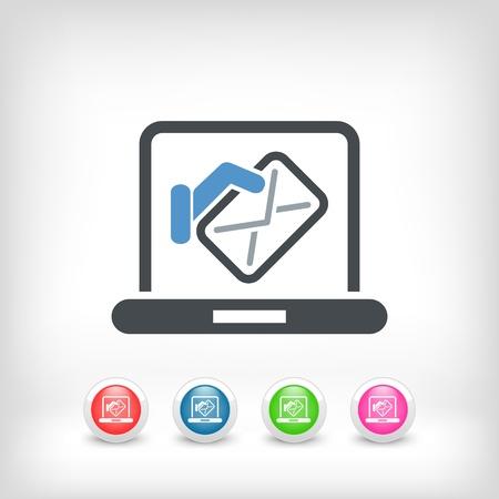 mailer: Computer mail icon Illustration