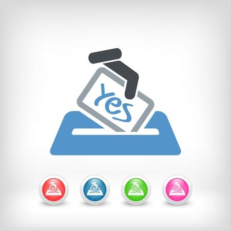Vote concept icon Stock Vector - 20084349