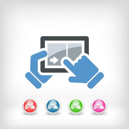 Touchscreen sliding icon Stock Vector - 20084320