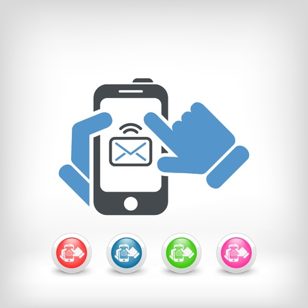 Smartphone mail icon