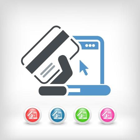online trading: Buy online icon Illustration