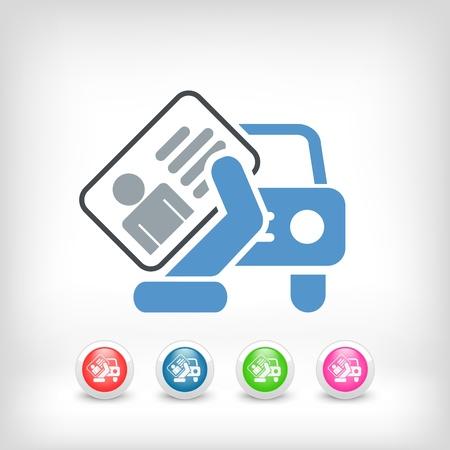 Icona di documento auto