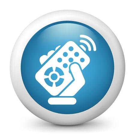 Remote control concept icon Stock Illustratie