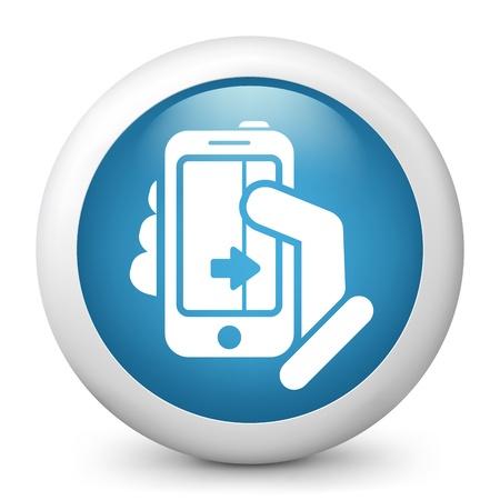 Touchscreen sliding icon Stock Vector - 20084209
