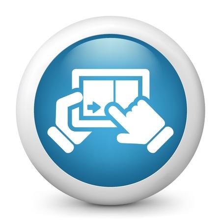 Touchscreen sliding icon Stock Vector - 20084228