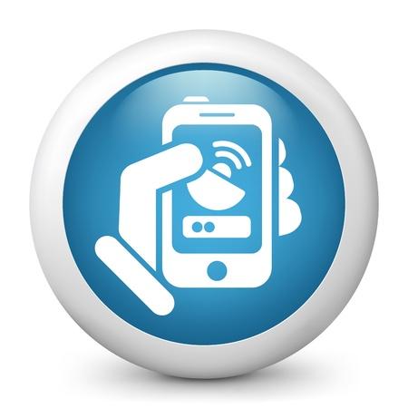 Antenna smartphone icon Stock Vector - 20084211