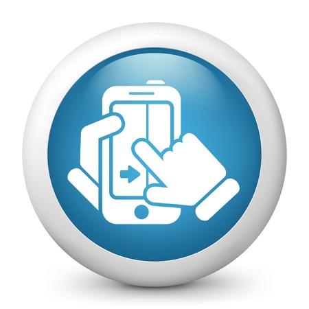 Touchscreen sliding icon Stock Vector - 20084248