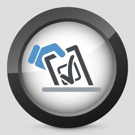 Vote concept icon Vector