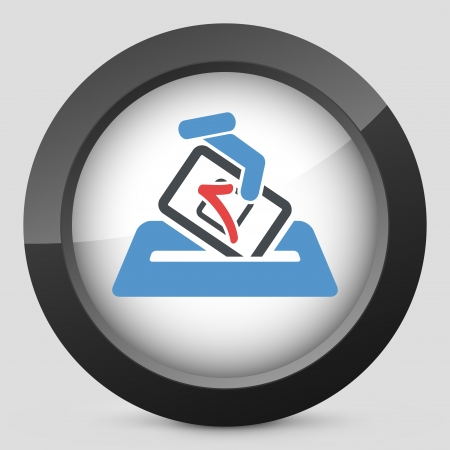 electors: Election concept icon Illustration