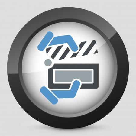 Clapboard concept icon Vector