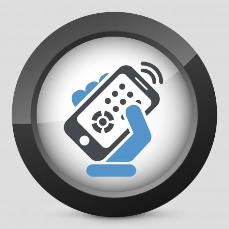 Smartphone remote control Stock Vector - 20084289